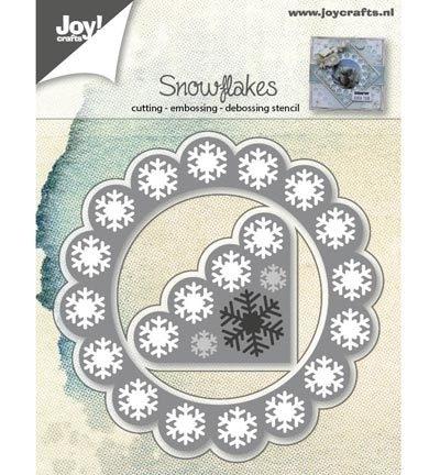 6002/0547 Sneeuwvlokken hoek/achtergrond