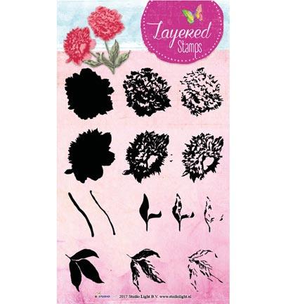 Studio Light - STAMPLS14 Layered Flower Stamps nr.14