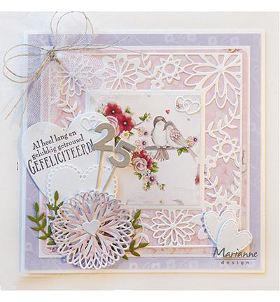 Marianne Design LR0577 - Flower Frame square