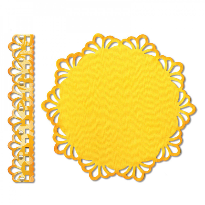 Sizzix 658947 Thinlits Die Set 2PK - Doily & Doily Border