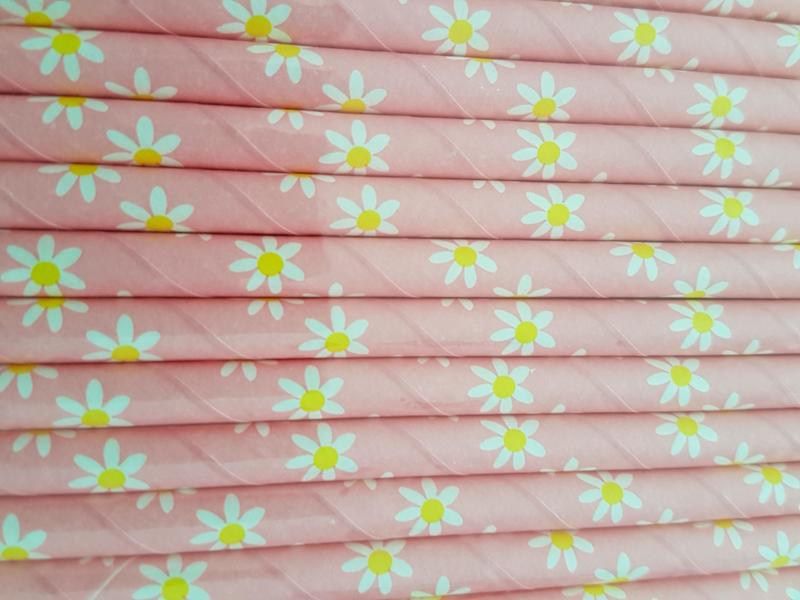 Rietjes 25 stuks Madeliefjes licht roze