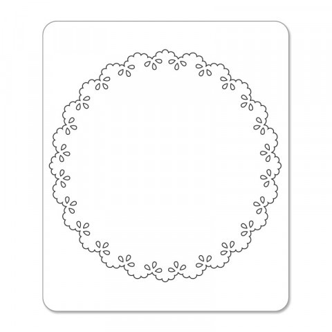 Sizzix Sizzlits Die - Card, Scallop Circle Insert 657996