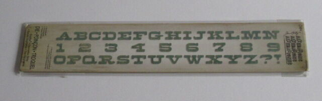 Sizzix 659427 Sizzlits Tim Holtz Decorative Strip Die - Boardwalk Alphabet & Numbers