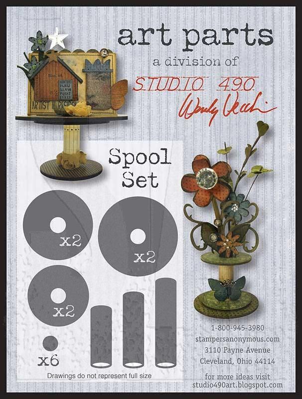 Studio 490 Wendy Vecchi Art Parts: Spool set