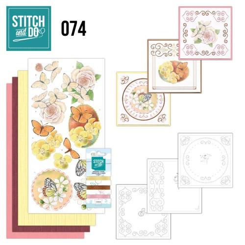 STDO074 - Stitch and Do 74 Vlinders en Bloemen