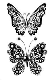 Studio Light - clearstamps vlinders stampsl62