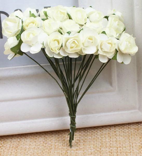 Bloemen 1cm crème wit