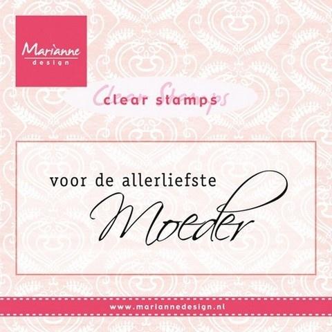 Marianne Design CS0931 Clear stamp Voor de allerliefst moeder