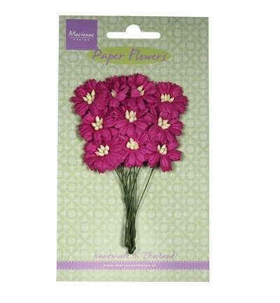 Marianne Design Paper Flowers Daisies - medium pink RB2253