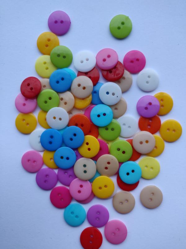 Mix knoopjes 15mm - 10 stuks