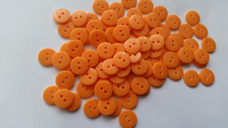 Oranje knoopjes 10 stuks 11mm