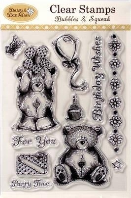 DND 9071001 Daisy & Dandelion Clear Stamps - With Love Best Wishes