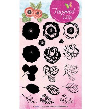 Studio Light - STAMPLS17 Layered Flower Stamps nr.17