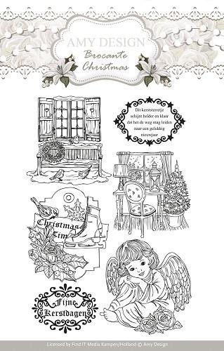 Amy Design -  ADCS10002  Clearstamp - Brocante Christmas