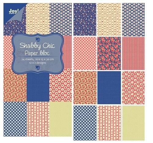 Joy!Crafts 6011/0311 Paper Bloc Shabby Chic Blauw