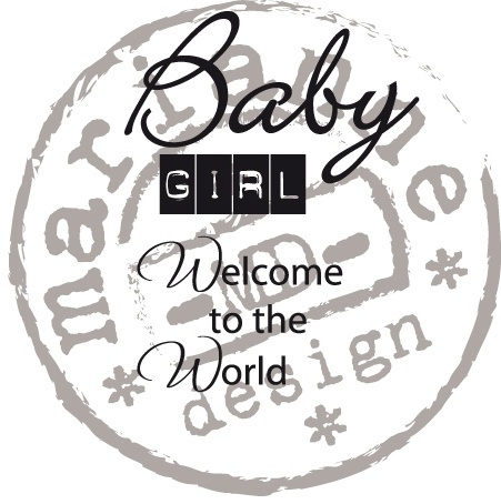 Marianne Design CS0890 Clear stamp Baby girl