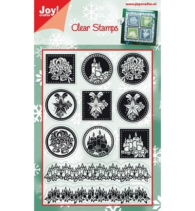 6410/0109 Stempel kerst round Christmas