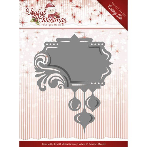 Precious Marieke - PM10107 - Joyful Christmas - Label Ornament