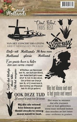 Amy Design - ADCS10006 Clearstamp - Oud Hollands - Tekst