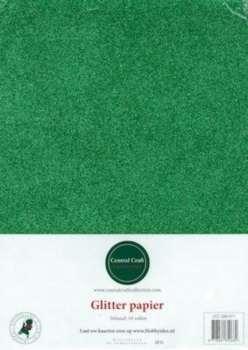 Glitterpapier dun groen CCC-280-011