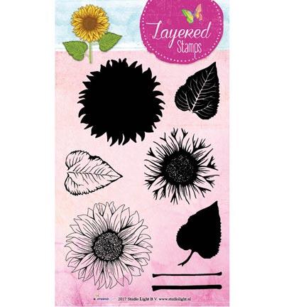 Studio Light - STAMPLS16 Layered Flower Stamps nr.16