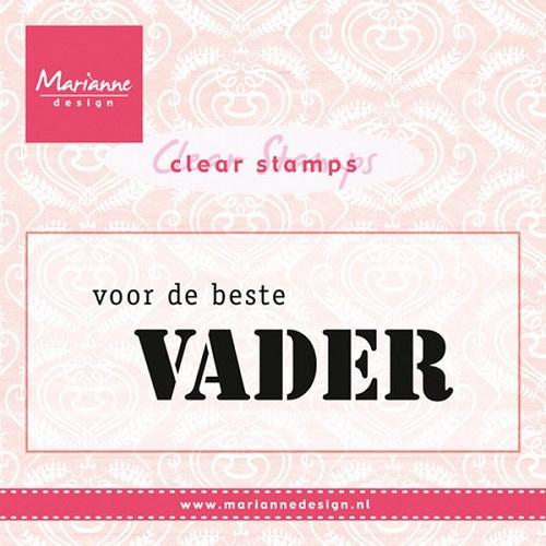 Marianne Design CS0932 Clear stamp Voor de beste vader