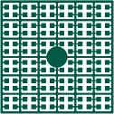 pixelmatje 505 - smaragdgroen extra donker