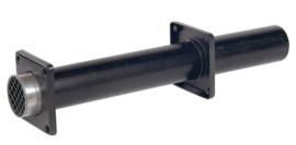 Ubbink Rolux Enkelpijpse muurdoorvoer 80 mm Kunststof PP & PE zwart