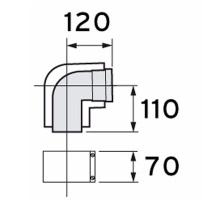 Bocht 87° - 80/125