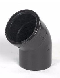 Ubbink Rolux Bocht 45° 80mm Kunststof PP & PE zwart