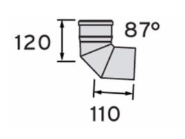 Bocht 87° pp 80mm