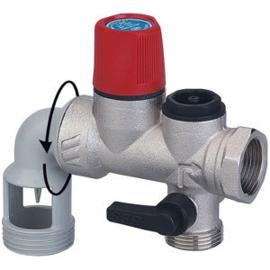 """Veiligheidsgroep staande boilers 3/4"""" Inox"""