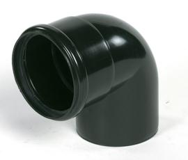 Ubbink Rolux Bocht 90° 80mm Kunststof PP & PE zwart