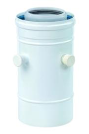 Ubbink Rolux Aansluitstuk met 2 meetnippels PP120/aluminium wit 60/100