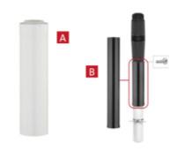 Ubbink Rolux 5G HRtop 60/100 (type C) Bovendaks verlengstuk A - PP/metaal 500mm