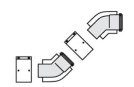 Bocht 45° - 60/100 (2 stuks)