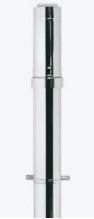 Ubbink Rolux Dakdoorvoer met kraag 1000mm PP120/inox