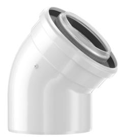 Bosch Schouw 80/125 - Bocht 45° - Kunststof/metaal