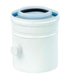 Ubbink Rolux Condensuitloop PP120/aluminium wit 80/125