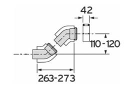 Bocht 45° - 80/125 (2 stuks)