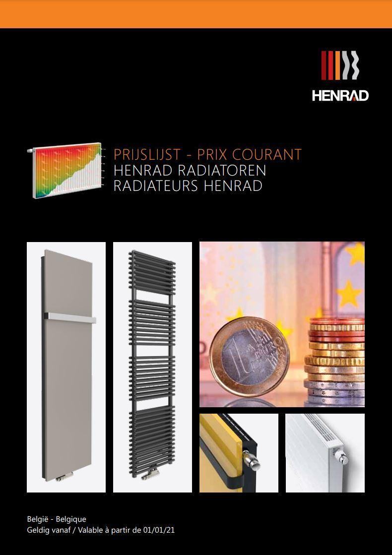 Officiële prijslijst Henrad radiatoren 2021