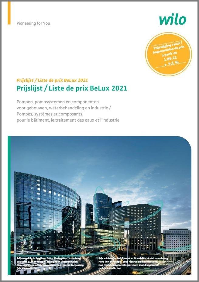 Officiële prijslijst Wilo pompen 2021