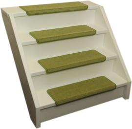 Elite soft lime groen rechte trapmatten