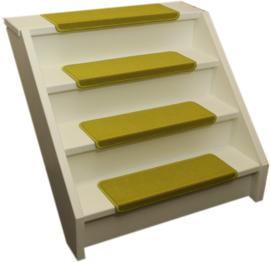Elite rechte trapmatten fluor geel