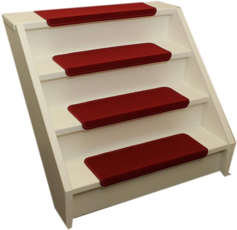 Elite rechte trapmatten rood