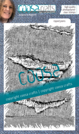 COOSA Crafts Clear Stamps #20 - Love my jeans - Ripped Jeans A6