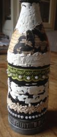 Gedecoreerde (plastic) fles