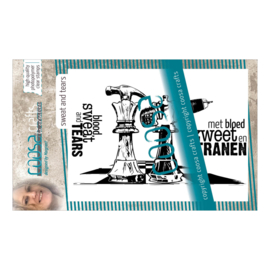COOSA Crafts Clear Stamp #11 - Sweat and Tears A7