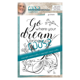 COOSA Crafts clear stamp #03 - Go Dream (EN) A6
