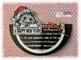 COOSA Crafts Clear Stamps #23 - Xmas Hugs 4 - A6